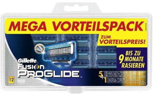 Gillette Fusion Proglide Klingen, 12 Stück, Vorteilspack