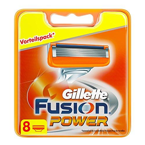 Gillette Fusion Power Klingen, 8 Stück, briefkastenfähige Verpackung(2015-Edition)