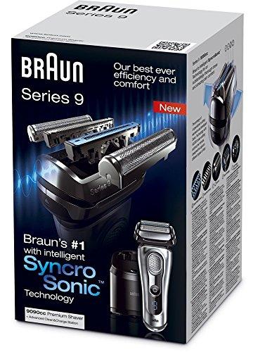 BRAUN Series 9 9090cc elektrischer Folienrasierer mit Reinigungsstation, Silber6