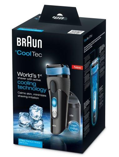 BRAUN CoolTec CT2cc Wet & Dry elektrischer Folienrasierer mit aktiver Kühltechnologie und Reinigungsstation1