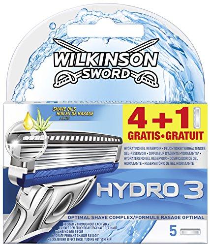 Wilkinson Sword Hydro 3 Klingen, 4  Stück + 1 gratis