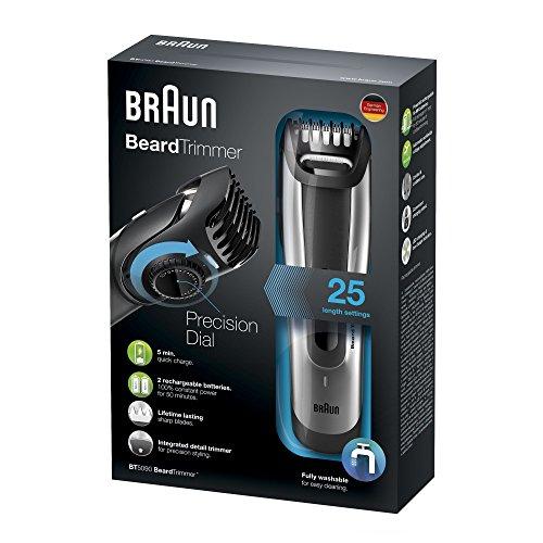Braun Bartschneider BT5090 Barttrimmer (Bartrasierer zur Bartpflege mit Ladestation) silber – 4
